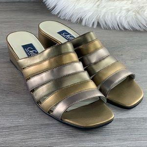 ❤️Selby Comfortflex Slides Wedge Sandals Size 8B